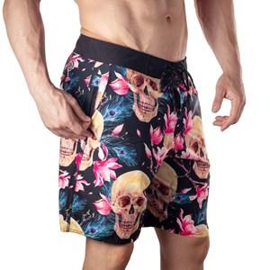 Bermuda Slim Onset Fitness Cross - Skull And Flowers