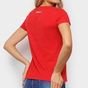 Camisa Feminina Onset Fitness Cross - Weightlifting Red