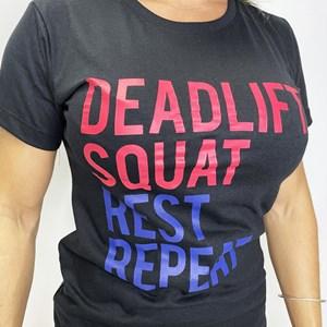 Camisa Feminina Onset Fitness Crossfit - Deadlift/Squat