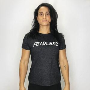 Camisa Feminina Onset Fitness Crossfit - Fearless/Mescla