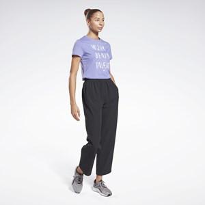 Camisa Feminina Reebok Work Beats Talent Graphic - Hyper Purple