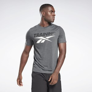 Camisa Reebok Training Vector - Dark Grey Heather