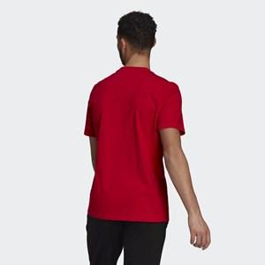Camiseta Adidas Essentials Big Logo - Red/White