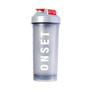 Coqueteleira Shaker Onset Fitness - Smoke/Red
