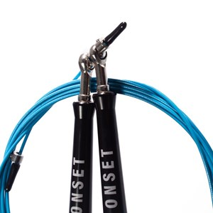 Corda de Pular Speed Rope Onset Fitness 3.0 Extreme - Black/Bright Cyan
