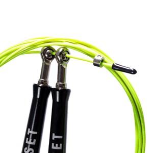 Corda de Pular Speed Rope Onset Fitness 3.0 Extreme - Black/Light Green
