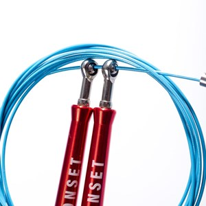 Corda de Pular Speed Rope Onset Fitness 3.0 Extreme - Red/Bright Cyan