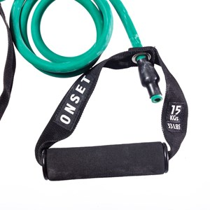 Elástico Extensor com manoplas Onset Fitnes Médio 33lb - Green