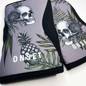 Joelheira Cross Onset Fitness 7 mm - Pineapple Skull