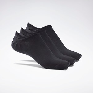 Meia Reebok Active Foundation Invisible Socks 3 Pairs - Black