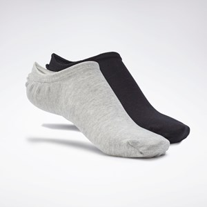 Meia Reebok Active Foundation Invisible Socks 3 Pairs - White/Dark Grey Heather/Black