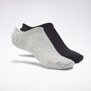 Meia Reebok Active Foundation Invisible Socks 3 Pairs - White/Dark Grey Heather/Black