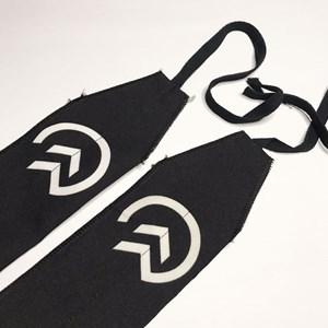 Munhequeira Crossfit Strength Wrap Onset Fitness - Black/White