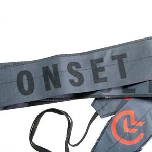 Munhequeira Crossfit Strength Wrap Onset Fitness - Red/Stonado