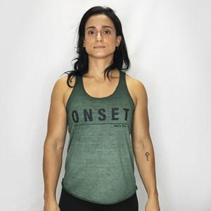 Regata Feminina Onset Fitness Casual Estonada - Green Army