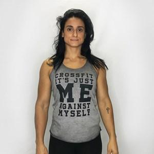 Regata Feminina Onset Fitness Casual Estonada - Grey Stone