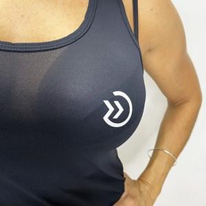 Regata Feminina Onset Fitness Cross Logo - Black