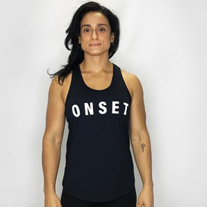 Regata Feminina Onset Fitness Crossfit - Black/White