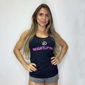 Regata  Feminina Onset Fitness Weightlifting - Black/Pink