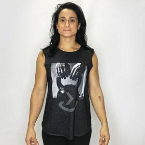 Regata Muscle Tee Feminina Onset Fitness Crossfit - Kettlebell