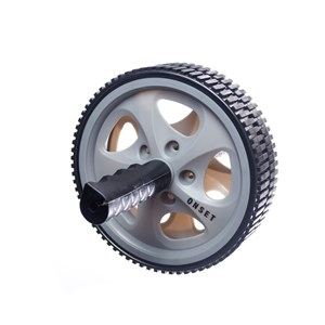 Roda para Exercícios Abdominais Onset Fitness - Grey/Black