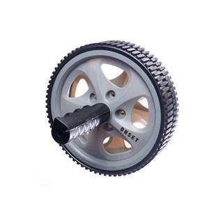 Roda para Exercícios Abdominais Onset Fitness - Grey / Black