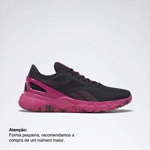 Tênis Reebok Nanoflex TR - Core Black/Pursuit Pink/Maroon