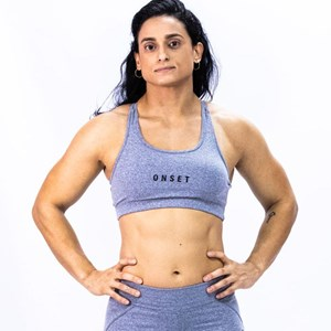 Top Strappy Onset Fitness Crossfit - Grey